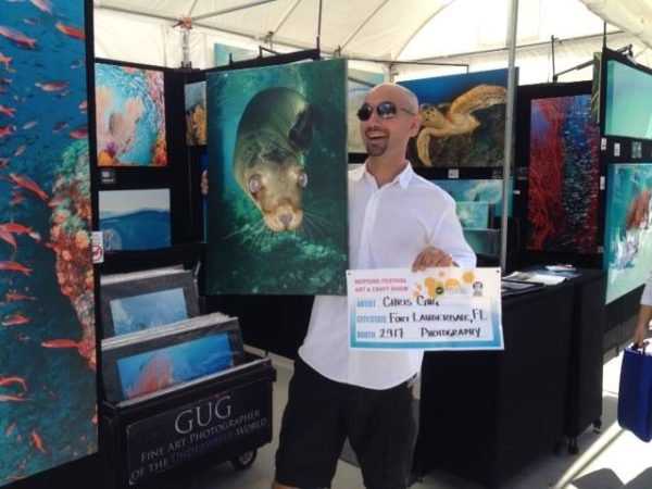 Gug Underwater booth at Ft. Lauderdale Art Show
